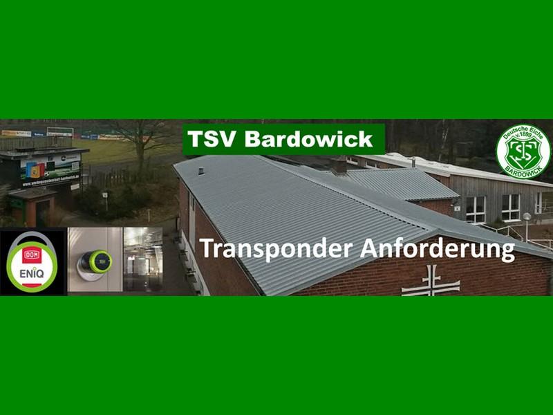 Schließanlage - bitte Transponder anfordern
