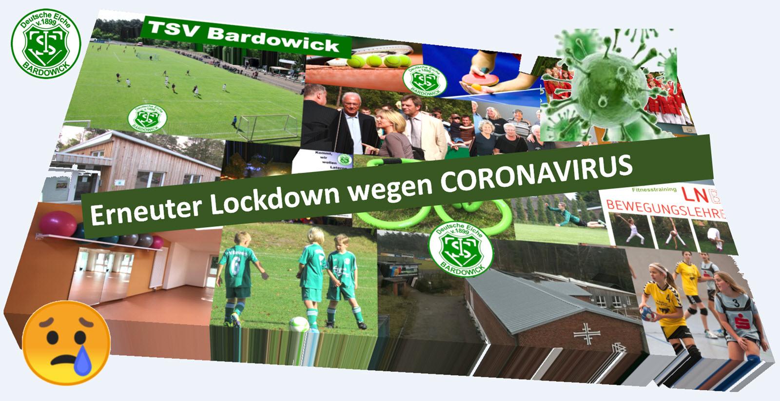 Einstellung des Sportbetriebs vom 02.11.2020 bis zum 29.11.2020 wegen Coronavirus (COVID-19)